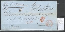 France - Lettre Bordeaux Pour LIMA - Pérou - Mars 1849 - Poststempel (Briefe)