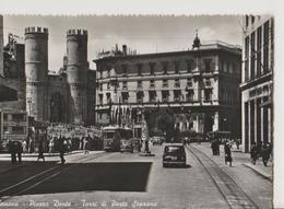 GENOVA PIAZZA DANTE, ,PANORAMICA-VIAGGIATA-NO-1950-FG-MT4277 - Genova (Genoa)