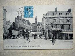 35 VITRE La Place Et La Rue De La Liberté Très Animée - Cancale