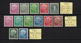 Germany 1954 - 1960, 179Y / 260Y, MNH**, Mi.€ 145.- (89s) - Neufs