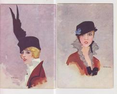CPA- Thème Illustrateurs- Femmes- Lot De 2 CPA- Binchi- - Altre Illustrazioni