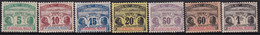 Haut-sénégal Et Niger -- Taxe 1 à 7 Neufs* -- 1906 - Neufs