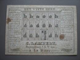 DEN HAAG - LA HAYE - HEERENSTRAAT -  HET WITTE HERT - LOGEMENT - G. LAMBERT - VISITEKAART 11.5 X 8 - Den Haag ('s-Gravenhage)