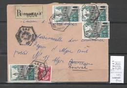 Algerie - Lettre FM - Cachet Hexagonal KAIROUANE SAS - Marcophilie - Algerien (1924-1962)