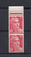 4 TIMBRES MARIANNE DE GANDON  3F ROSE 1944 / 45 N 716 Yver Et Tellier  -  4 Timbres Neufs Sans Trace De Charniéres - 1945-54 Marianne Of Gandon