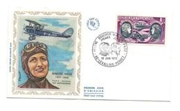 Enveloppe Premier Jour D'émission Maryse Hilsz Paris-Saigon Sur Moth-Morane Levallois-Perret1972- Timbres De 10 Francs - Persönlichkeiten