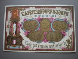 DORDRECHT - C.A. VRIESENDORP - LACKE UND FERNISSE -  PORCELEINKAART 14 X 9 - Dordrecht