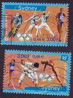 3340 3341 France 2000 Oblitéré  Jeux Olympiques De Sydney Australie Cyclisme Escrime Relais Judo Plongeon - Oblitérés