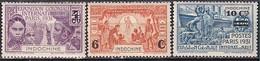Indochine -- N° 147 à 149  Neufs* -- 1931 - Unused Stamps