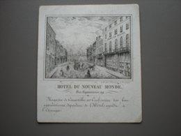 LILLE - HOTEL DU NOUVEAU MONDE - BAAS-DEVOS - CARTE DE VISITE 9 X 8 - Lille
