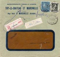 N° 430 Et 480 Perforation T.M. (Thy-le-Chateau Et Marcinelle) Sur Enveloppe à Fenêtre Vers Romedenne - 1934-51
