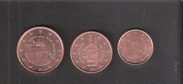 1,2 Et 5 Centimes Saint-Marin 2006(issues De Rouleaux) - San Marino
