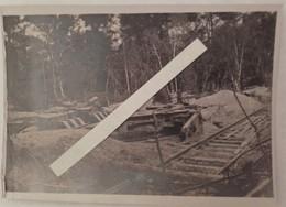 1918 Coucy Le Chateau Grosse Bertha Plateforme Détruite Offensive D'aout Poilus Tranchée WW1 14-18 Carte Photo - War, Military
