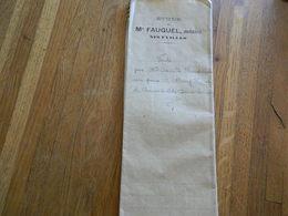 NEUFVILLES (SOIGNIES):ACTE NOTARIE POUR UNE VENTE A CHAUSSEE NOTRE DAME LOUVIGNIES EN 1920-NOTAIRE FAUQUEL - Unclassified