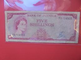 JAMAIQUE 5 SHILLINGS 1960 CIRCULER (B.12) - Jamaica