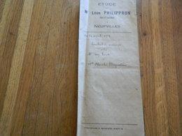 NEUFVILLES (SOIGNIES):ACTE NOTARIE POUR UN CONTRAT DE MARIAGE EN 1929-NOTAIRE LEON PHILIPPRON - Unclassified