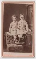 Cdv Photo Originale XIXème Enfants Garçon Piton Alfred Fille Valentine Mode Habits Identiques 1876 Carette Lille Cdv2943 - Anciennes (Av. 1900)