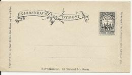 ENTIER POSTAL  Bypost Copenhague Kiobenhavns DANEMARK DENMARK - Local Post Stamps