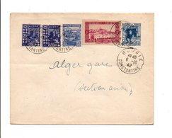 ALGERIE AFFRANCHISSEMENT COMPOSE SUR LETTRE INTERIEURE 1942 - Covers & Documents