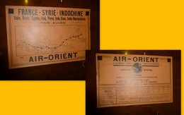 Aviation AIR-ORIENT France-Syrie-Indochine, Tract PUB Vers 1948 ?  ; PAP 10 - Pubblicitari