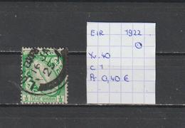 Eire 1922 - Yv. 40 Fil. Se Gestempeld/oblitéré/used - Usati