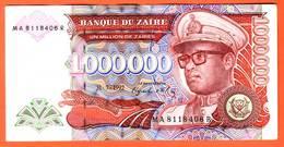 ZAIRE  Billet  1.000.000 Zaires  31 07 1992  Pick 44  UNC - Zaire