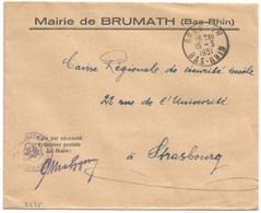 B635 - BRUMATH - 1951 - Bas Rhin - Entête MAIRIE - - Alsace Lorraine