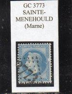 Marne - N° 29B (clair Au Recto) Obl GC 3773 Sainte-Ménéhould - 1863-1870 Napoléon III. Laure