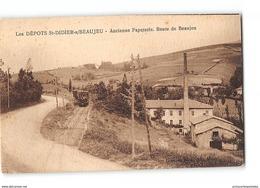 CPA 69 Les Depots Saint Didier Sur Beaujeu Ancienne Papeterie Le Train Tramway Ligne De Villefranche Tarare - France