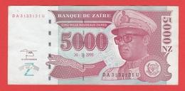 ZAIRE  Billet  5.000 Nouveaux Zaires  30 01 1995  Pick 69  UNC - Zaire