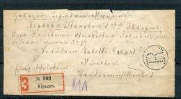 """Russia,Russland 1906 Letter R-Brief/Reco  Bedarfsbrief Mit Mi.Nr.52 ???MeF""""Russland-München,Germany """"1 Mini Letter Cover - 1857-1916 Empire"""