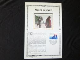 """BELG.1990 2364 : """" WATER IS LEVEN """" NL.Luxe Kunstblad Zijde , 200 Exemplaren Limiet - 1981-90"""
