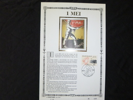 """BELG.1990 2366 : """" 1 MEI """" NL.Luxe Kunstblad Zijde , 200 Exemplaren Limiet - 1981-90"""