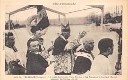 35-SAINT-MALO- LE GRAND PARDON DES TERRE-NEUVE, SON EMINENCE LE CARDINAL CHAROST BENISSANT LES NAVIRES G.M - Saint Malo