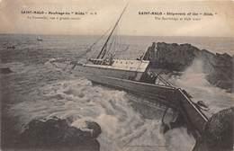 35-SAINT-MALO-NAUFRAGE DU HILDA LA PARELLE VUE A GRANDE MAREE - Saint Malo