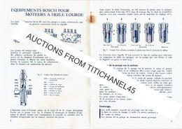1936 Carnet De 12 Pages BOSCH Equipements Pour Moteurs à Huile Lourde, Pompes D'injection Type PF, Injecteurs, Filtres - Non Classés