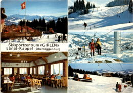 "Skisportzentrum ""Girlen"" - Ebnat-Kappel - Obertoggenburg - 5 Bilder (37687) * 24. 12. 1984 - SG St. Gall"