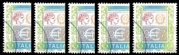 REPUBBLICA  2002 - Alti Valori Ordinari  €2,17 - Sass. 2582  Lotto Di 5v. Usati - 6. 1946-.. Repubblica