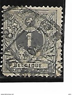 Belgique N°43 Obl Pour Imprimé BRUXELLES 5 + Défauts Tete Blanche 2 Scan Lot T208 - 1869-1888 Lion Couché