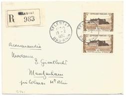 B721 - SELESTAT - 1952 - Bas Rhin - Recommandé - Verso Entête PASTEUR REBERT - Château Clos VOUGEOT - - Alsace Lorraine