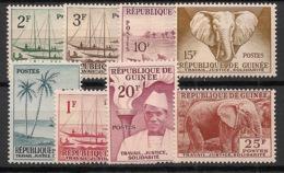 Guinée - 1959 - N°Yv. 8 à 15 - Série Complète - Neuf Luxe ** / MNH / Postfrisch - Guinea (1958-...)