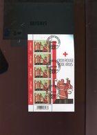 Belgie 2006 3525 Red Cross Velletje FDC Gestempeld OCB 9€ Plaatnummer 1 - Kleinbögen