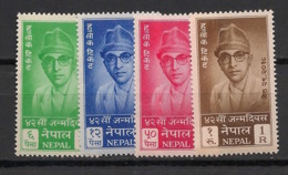 Nepal - 1961 - N°Yv. 119 à 122 - Roi Mahendra - Série Complète - Neuf Luxe ** / MNH / Postfrisch - Nepal