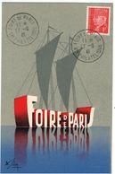 1941 / Pétain N° 514 / Foire De Paris / Section Philatélique - Cachets Commémoratifs