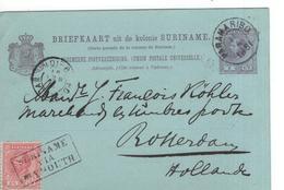 Suriname - Via Plymouth - Bijfrankering 2 1/2 Cent Op 5 Geuz - Marcophilie