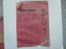 VIEUX PAPIERS - PATRON : La Mode Parisienne N° 109 - Old Paper