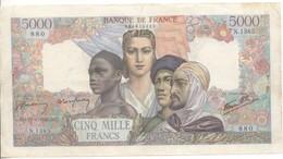 5000 FRANCS EMPIRE FRANCAIS 1945    27/09/45 - 1871-1952 Anciens Francs Circulés Au XXème