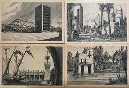 NAPOLI....Neapel....Naples.....Quattro Cartoline Circa 1930'.     N-25 - Napoli
