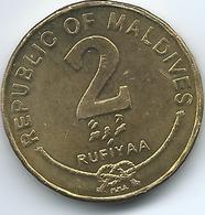 Maldives - AH1428 (2007) - 2 Rufiyaa - KM88a - Magnetic - Maldives
