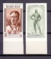 785/786 DOKWERKER EN WEERSTANDER ONGETAND POSTFRIS** 1948 - Belgio